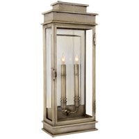 E. F. Chapman Linear 2 Light 23 inch Antique Nickel Wall Lantern
