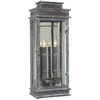 Visual Comfort E.F. Chapman 2 Light Wall Lantern in Weathered Zinc CHD2910WZ