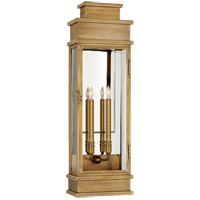 E. F. Chapman Linear 2 Light 29 inch Antique-Burnished Brass Outdoor Wall Lantern, Large