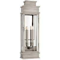 E. F. Chapman Linear 2 Light 29 inch Antique Nickel Outdoor Wall Lantern, Large