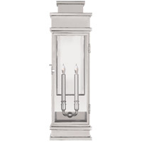 E. F. Chapman Linear 2 Light 29 inch Polished Nickel Outdoor Wall Lantern, Large