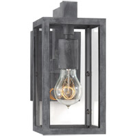 Visual Comfort E.F. Chapman Fresno Framed 1 Light Outdoor Wall Lantern in Weathered Zinc with Clear Glass Shade CHD2930WZ-CG