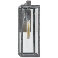 E. F. Chapman Fresno Framed 18 inch Weathered Zinc Outdoor Sconce, E.F. Chapman, Medium, Clear Glass