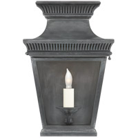 E. F. Chapman Elsinore 1 Light 12 inch Weathered Zinc Outdoor Wall Lantern, Small