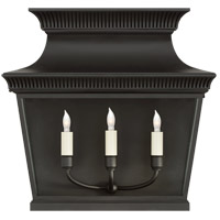 E. F. Chapman Elsinore 3 Light 17 inch Black Outdoor Wall Lantern, Extra Wide
