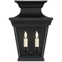 E.F. Chapman Elsinore 2 Light 11 inch Hand Painted Black Wall Lantern Wall Light