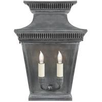 Visual Comfort CHD2950WZ E. F. Chapman Elsinore 2 Light 16 inch Weathered Zinc Wall Lantern