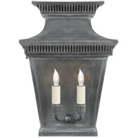 Visual Comfort CHD2950WZ E. F. Chapman Elsinore 2 Light 16 inch Weathered Zinc Wall Lantern