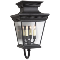 Visual Comfort E.F. Chapman Elsinore 4 Light Wall Lantern in Hand Painted Black CHD2952BLK