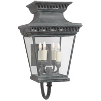 Visual Comfort E.F. Chapman Elsinore 4 Light Wall Lantern in Weathered Zinc CHD2952WZ