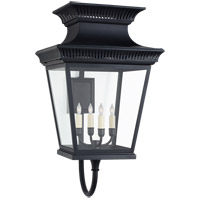 Visual Comfort CHD2953BLK-CG E. F. Chapman Elsinore 4 Light 31 inch Black Outdoor Wall Lantern, Large