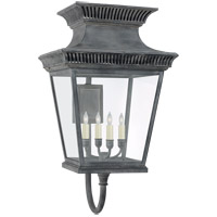 Visual Comfort CHD2953WZ-CG E. F. Chapman Elsinore 4 Light 31 inch Weathered Zinc Outdoor Wall Lantern, Large