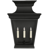 Visual Comfort CHD2955BLK-CG E. F. Chapman Elsinore 3 Light 24 inch Matte Black Outdoor Wall Lantern, Large photo thumbnail
