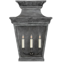 Visual Comfort CHD2955WZ-CG E. F. Chapman Elsinore 3 Light 24 inch Weathered Zinc Outdoor Wall Lantern, Large