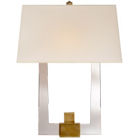 Visual Comfort CHD2957CG/AB-S E. F. Chapman Edwin 2 Light 14 inch Crystal with Brass Double Arm Sconce Wall Light in Antique Burnished Brass