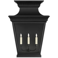 Visual Comfort CHD2960BLK-CG E. F. Chapman Elsinore 3 Light 28 inch Black Outdoor Wall Lantern, Extra Large