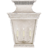 Visual Comfort CHD2960OW-CG E. F. Chapman Elsinore 3 Light 28 inch Old White Outdoor Wall Lantern, Extra Large