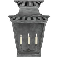 Visual Comfort CHD2960WZ-CG E. F. Chapman Elsinore 3 Light 28 inch Weathered Zinc Outdoor Wall Lantern, Extra Large