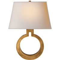 Visual Comfort E.F. Chapman Ring 1 Light Decorative Wall Light in Antique-Burnished Brass CHD2970AB-NP