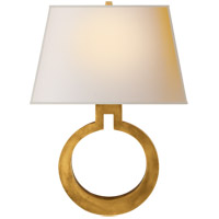 Visual Comfort CHD2970AB-NP E. F. Chapman Ring 1 Light 14 inch Antique-Burnished Brass Decorative Wall Light in Antique Burnished Brass