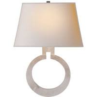 Visual Comfort E.F. Chapman Ring 1 Light Decorative Wall Light in Alabaster Natural Stone CHD2970ALB-NP