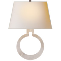 E. F. Chapman Ring 1 Light 14 inch Alabaster Natural Stone Decorative Wall Light