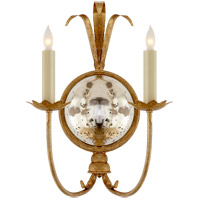 Visual Comfort E.F. Chapman Gramercy 2 Light Decorative Wall Light in Gilded Iron CHD4175GI