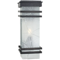 E. F. Chapman Mission 2 Light 20 inch Aged Iron Outdoor Wall Lantern, E.F. Chapman, Medium, Banded, Clear Textured Glass