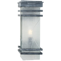 E. F. Chapman Mission 2 Light 20 inch Weathered Zinc Outdoor Wall Lantern, E.F. Chapman, Medium, Banded, Clear Textured Glass