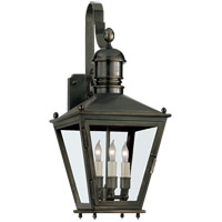 Visual Comfort E.F. Chapman Sussex 3 Light Outdoor Wall Lantern in Bronze with Wax CHO2031BZ