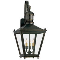 Visual Comfort E.F. Chapman Sussex 3 Light Outdoor Wall Lantern in Bronze with Wax CHO2032BZ