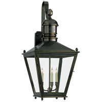 Visual Comfort E.F. Chapman Sussex 3 Light Outdoor Wall Lantern in Bronze with Wax CHO2033BZ