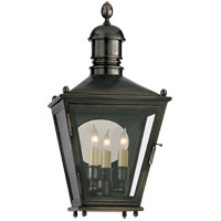 Visual Comfort E.F. Chapman Sussex 3 Light Outdoor Wall Lantern in Bronze with Wax CHO2034BZ