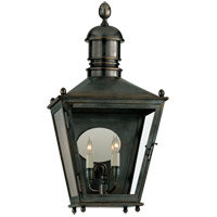 Visual Comfort E.F. Chapman Sessex 3 Light Outdoor Wall Lantern in Bronze with Wax CHO2035BZ