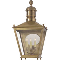 Visual Comfort Chart House Large 3/4 Sussex Lantern in Antique-Burnished Brass CHO2036AB