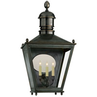 Visual Comfort E.F. Chapman Sussex 3 Light Outdoor Wall Lantern in Bronze with Wax CHO2036BZ