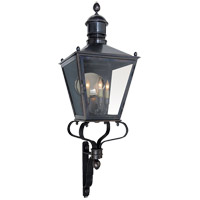 Visual Comfort E.F. Chapman Sussex 3 Light Outdoor Wall Lantern in Bronze with Wax CHO2038BZ