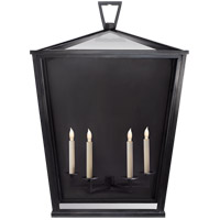 Visual Comfort E.F. Chapman Darlanao 4 Light Outdoor Wall Lantern in Bronze with Clear Glass Shade CHO2042BZ