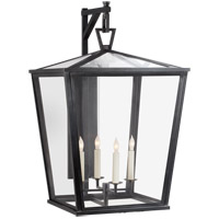 Visual Comfort E.F. Chapman Darlanao 4 Light Outdoor Wall Lantern in Bronze with Clear Glass Shade CHO2043BZ