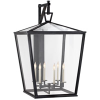 Visual Comfort E.F. Chapman Darlanao 6 Light Outdoor Wall Lantern in Bronze with Clear Glass Shade CHO2044BZ