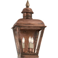 Visual Comfort E.F. Chapman Hampshire 3 Light Outdoor Wall Lantern in Natural Copper CHO2050NC