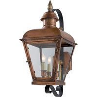 Visual Comfort E.F. Chapman Hampshire 3 Light Outdoor Wall Lantern in Natural Copper CHO2051NC