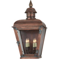 Visual Comfort E.F. Chapman Hampshire 4 Light Outdoor Wall Lantern in Natural Copper CHO2052NC