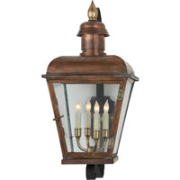 Visual Comfort E.F. Chapman Hampshire 4 Light Outdoor Wall Lantern in Natural Copper CHO2053NC