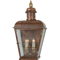 Visual Comfort E.F. Chapman Hampshire 4 Light Outdoor Wall Lantern in Natural Copper CHO2055NC