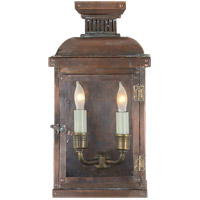 Visual Comfort E.F. Chapman Suffork 2 Light Outdoor Wall Lantern in Natural Copper CHO2060NC