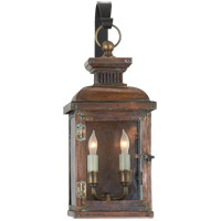 Visual Comfort E.F. Chapman Suffork 2 Light Outdoor Wall Lantern in Natural Copper CHO2061NC