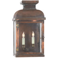 Visual Comfort E.F. Chapman Suffork 2 Light Outdoor Wall Lantern in Natural Copper CHO2062NC