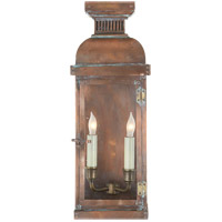 Visual Comfort E.F. Chapman Suffork 2 Light Outdoor Wall Lantern in Natural Copper CHO2063NC