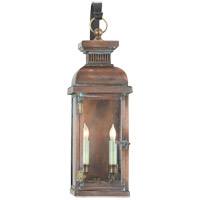 Visual Comfort E.F. Chapman Suffork 2 Light Outdoor Wall Lantern in Natural Copper CHO2064NC